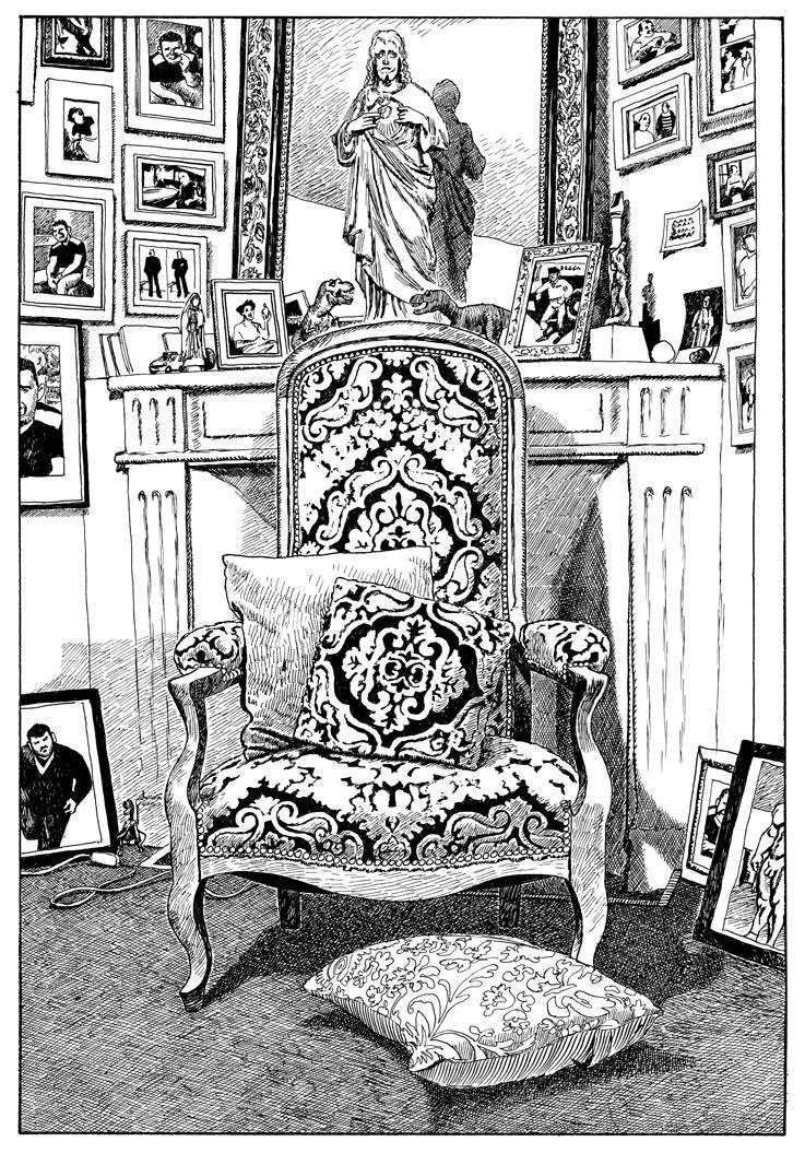 """""""Chez moi"""" dessin de Fabrice Neaud"""